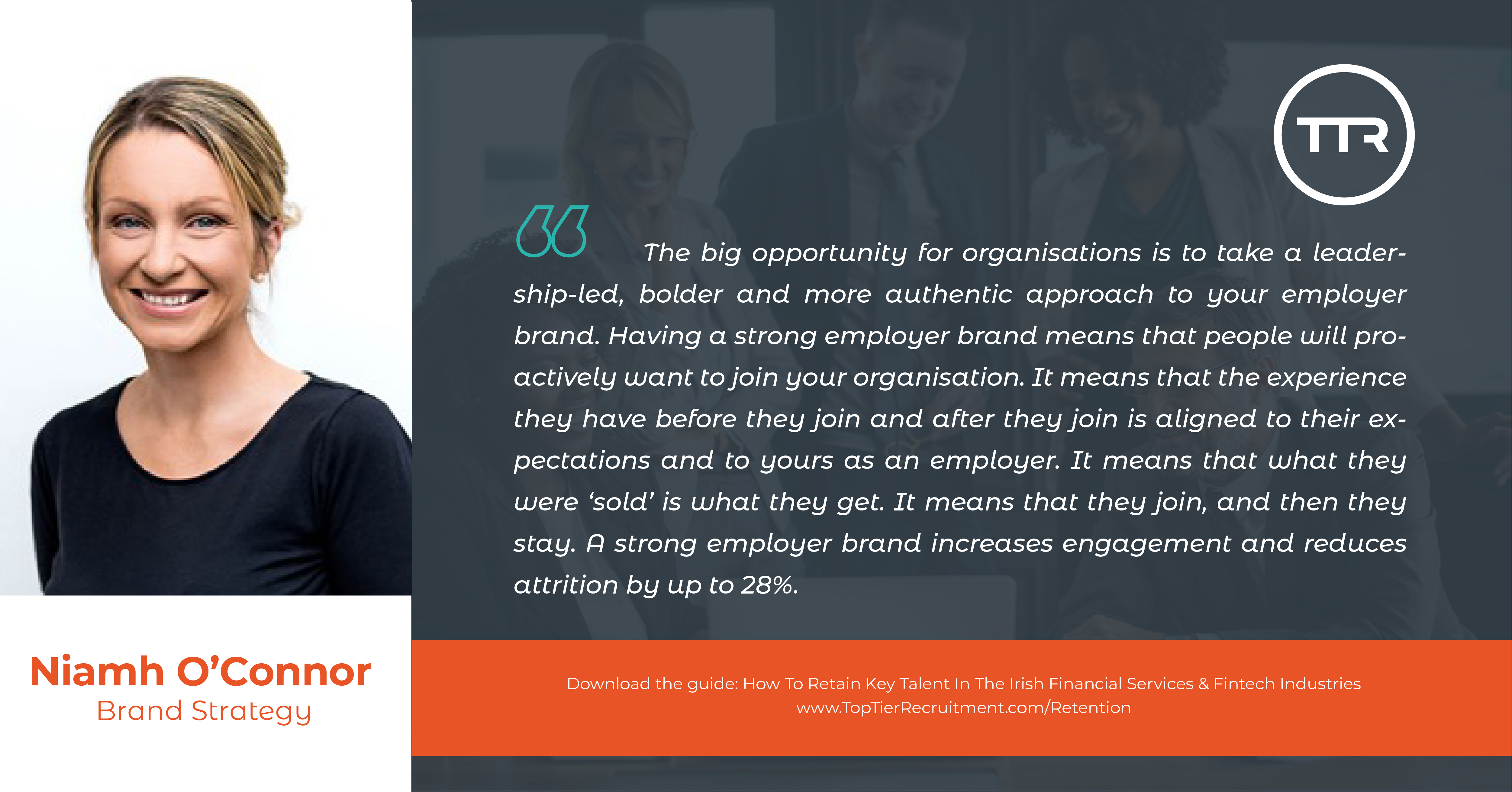 Niamh O'Connor employer branding quote